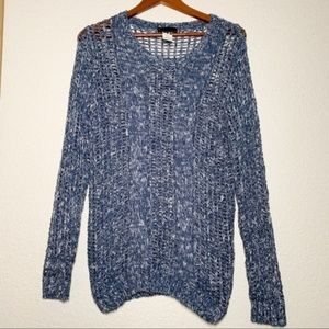 I Jeans By Buffalo Blue Loose Knit Sweater Small